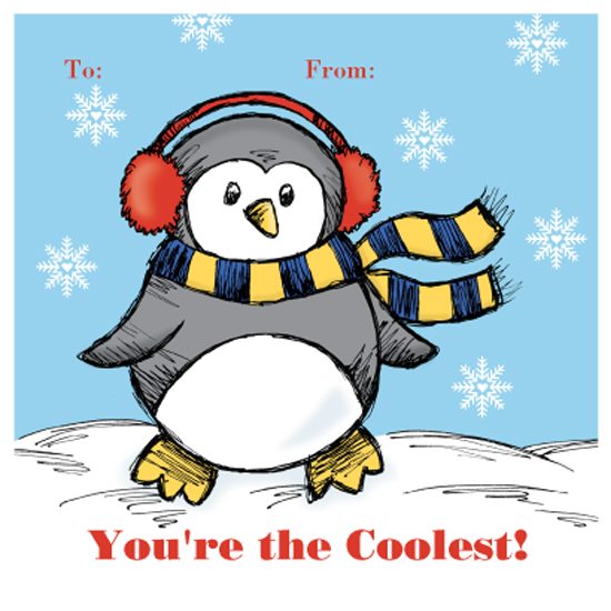 valentine's day - Cool Penguin by Lori Moore