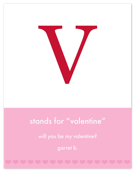 valentine's day - V Stands For by Sue Bakkila