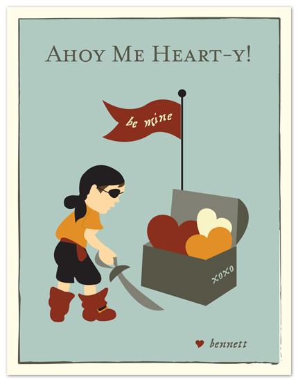 valentine's day - lil pirate valentine by Carrie Eckert