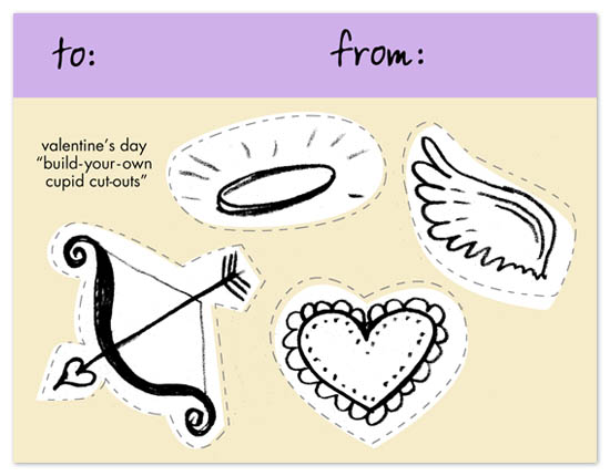 valentine's day - Build-Your-Own Cupid Card by - Keg Design -