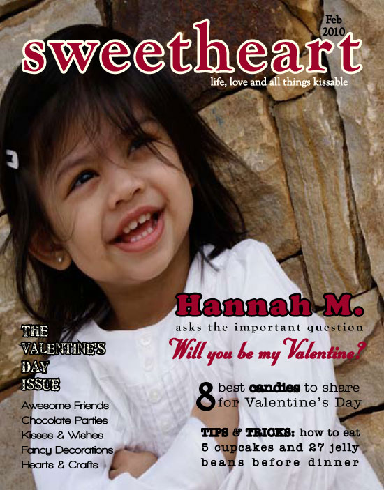 valentine's day - Sweetheart Magazine Cover Valentine by Josephine Guidolin