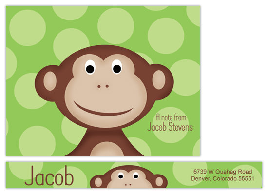 personal stationery - Monkey Face by Chic Design