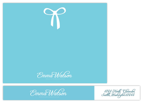 personal stationery - Breakfast at Tiffany's by lou & riggy