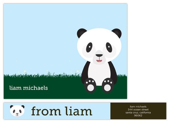 personal stationery - panda pal by Waui Design