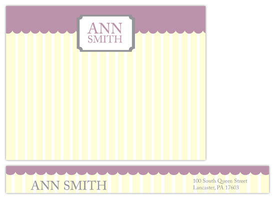 personal stationery - Sweet Stripes by Oneleven Creative