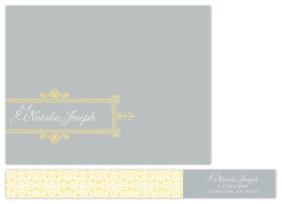personal stationery - Ornate Frame by The AV Design Factory