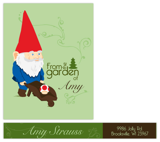 personal stationery - Garden Gnome by Ashley Hay