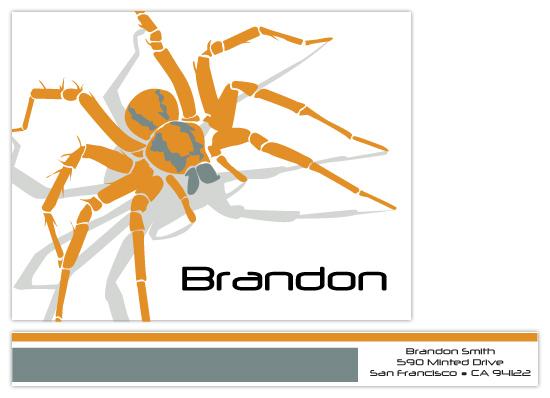 personal stationery - Arachnid by Jennifer C