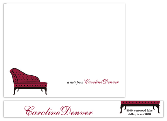 personal stationery - just a couch by Deniz Ören