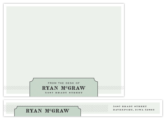 personal stationery - McGraw by Sarah Lenger