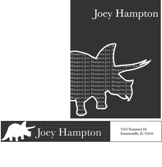 personal stationery - Dinosaur Joe by Gretchin Anderson
