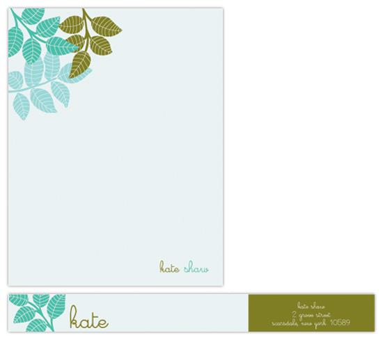 personal stationery - botanical bunch by lauramacchia