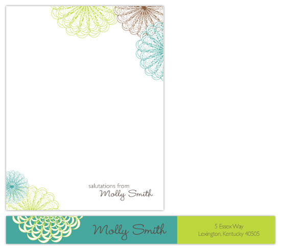 personal stationery - Pom Pom Salutations by Megan Bryan