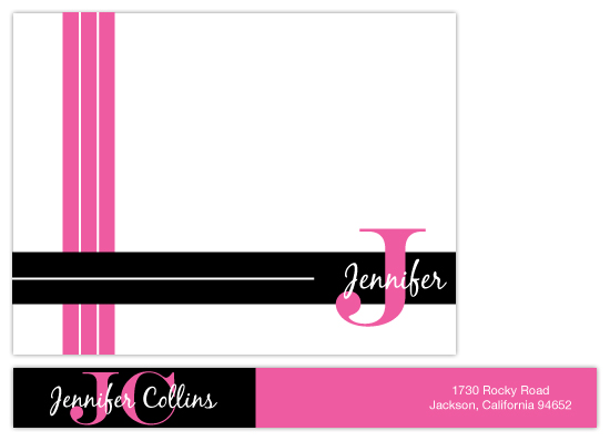 personal stationery - Striped Name by Kristin Robinson