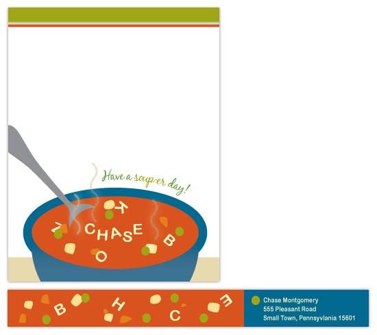 personal stationery - Have a Soup-er Day by Lisa Razza