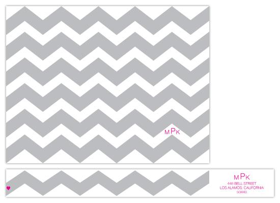 personal stationery - chevron stripes by .cevd.