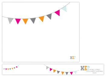 bunting personal stationery