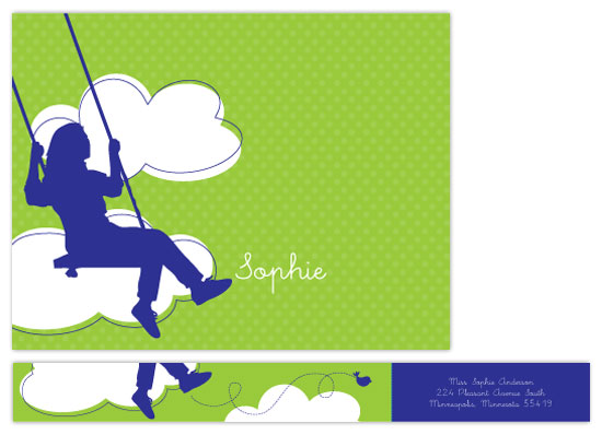 personal stationery - sophie swings by doodle bird