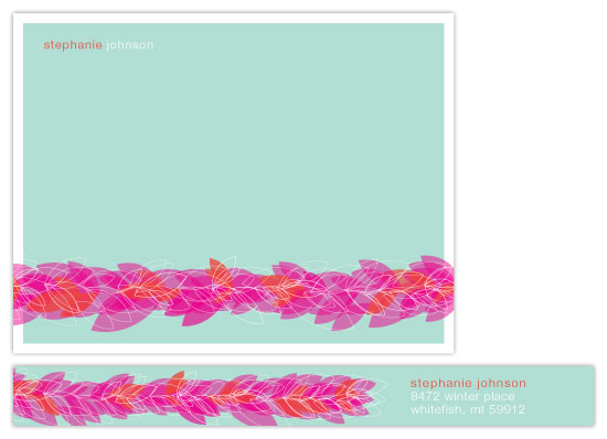 personal stationery - Rosy Posy by Rachel Johnson