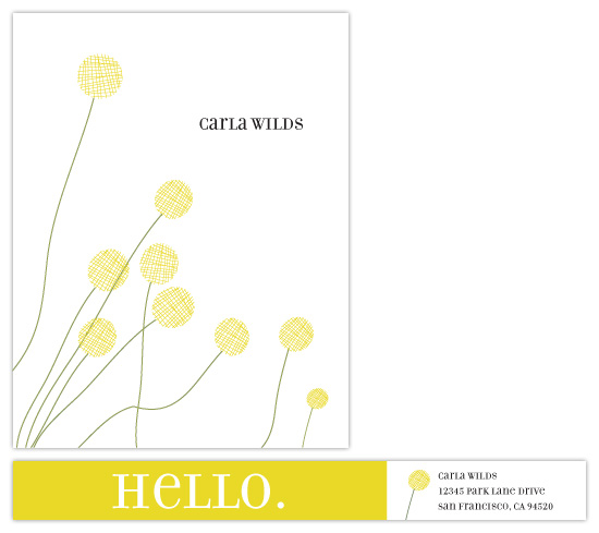 personal stationery - Billy Buttons by Maria E