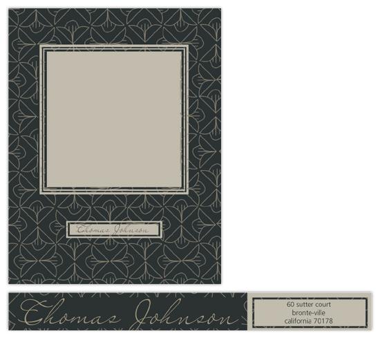 personal stationery - magnolia pattern by Deniz Ören