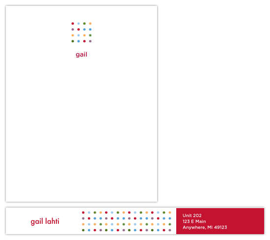 personal stationery - Modern Dots by Sue Bakkila