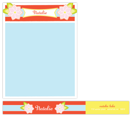personal stationery - Sunny Days by Rachel Johnson