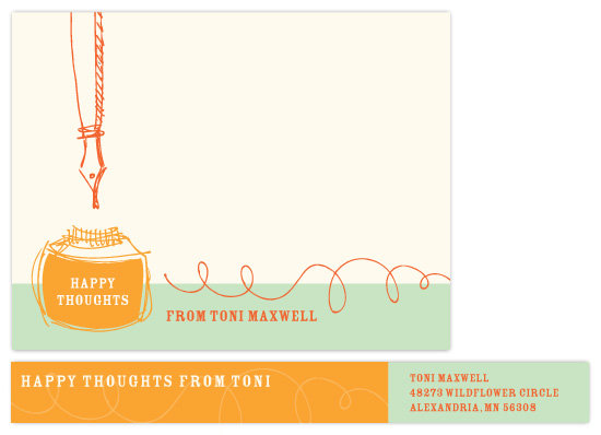 personal stationery - Happy Thoughts by Stacy Kron