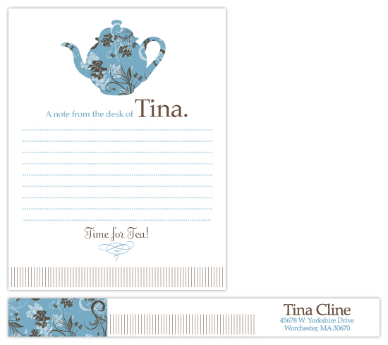 personal stationery - Tea Time by Wendy Sommers
