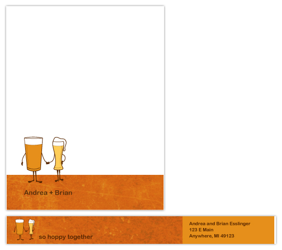 personal stationery - So Hoppy Together by Sue Bakkila