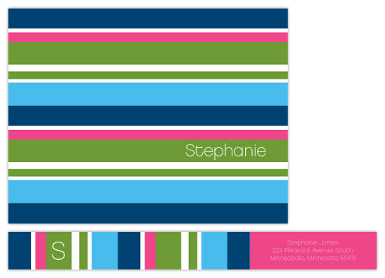 personal stationery - stephanie stripe by doodle bird