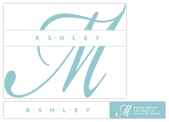 personal stationery - Modern On A Personal Note by kelliej designs