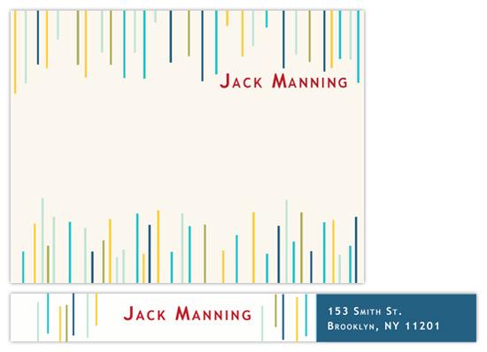 personal stationery - Mod-Stripes by Studio Celeste