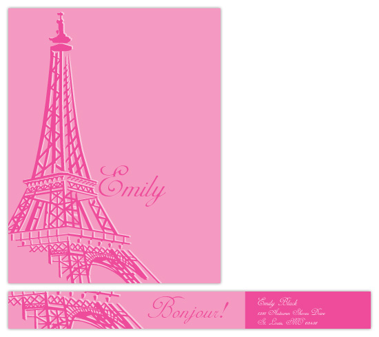 personal stationery - Paris in Pink by melmade