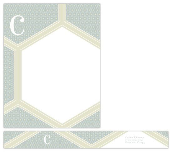 personal stationery - geometric greetings by sweet tree studio