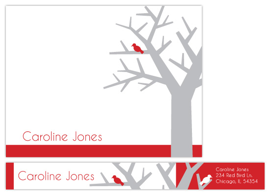personal stationery - Tree Bird by Rebekah Canavan