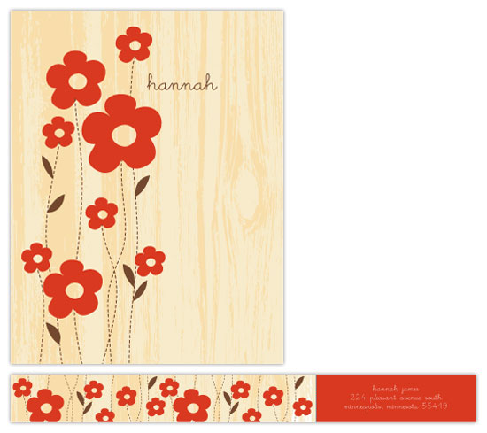 personal stationery - woodgrain garden by doodle bird