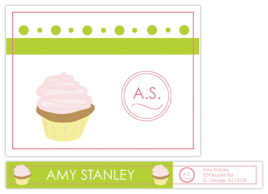 personal stationery - Cupcake Fun by kelliej designs
