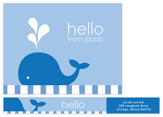 personal stationery - LIttle Blue Whale by Amy Sheridan
