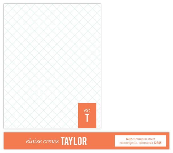 personal stationery - Prep School by beth perry DESIGN