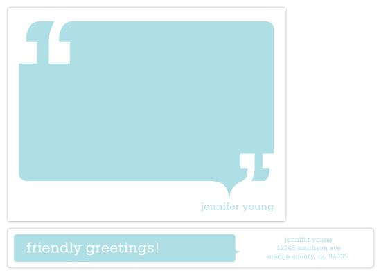 personal stationery - Talk Bubble by Evelyn