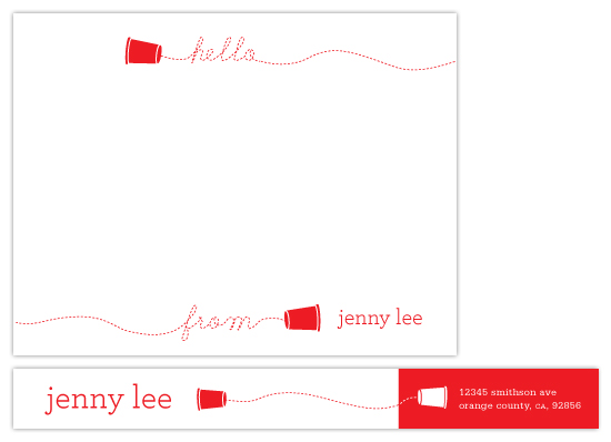 personal stationery - Paper Cup  by Evelyn