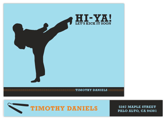 personal stationery - Let's Kick It Karate style by fondly san francisco