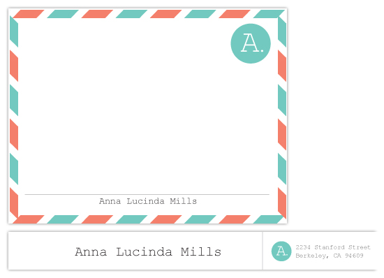 personal stationery - Air Mail by Kate Sawyer