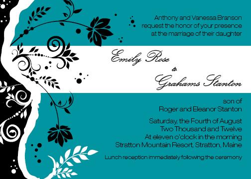 wedding invitations - Tiffany's Gone Modern by Jessica Strayer