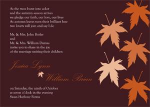 wedding invitations - Fall Into Love by Jessica Strayer