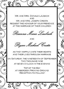 wedding invitations - Viney Expectations by Jessica Strayer