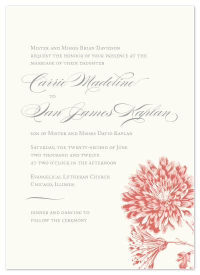 wedding invitations - Modern Romantic Chic by Laura Coggins