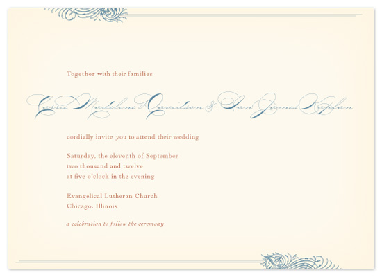 wedding invitations - Timeless Request by Laura Coggins