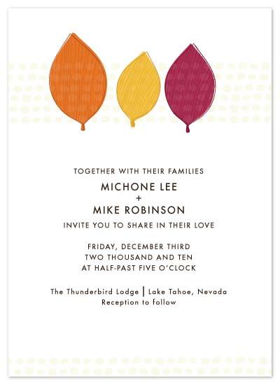 wedding invitations - Leaf Doodle by Peek Designs